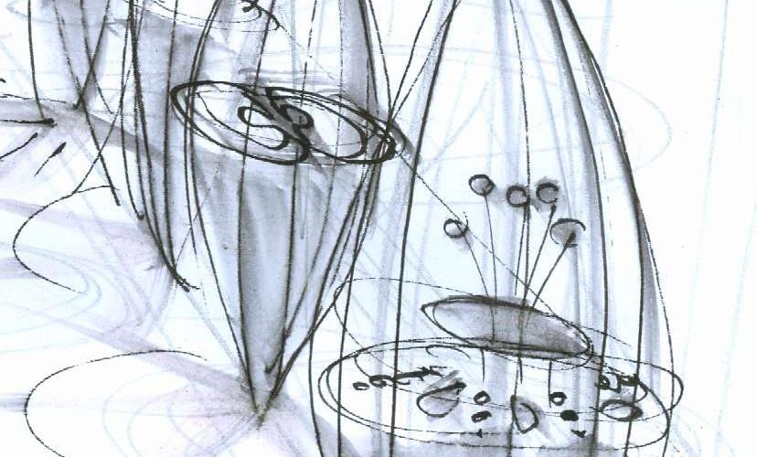 Knospen Skizze 1 Ausschnitt